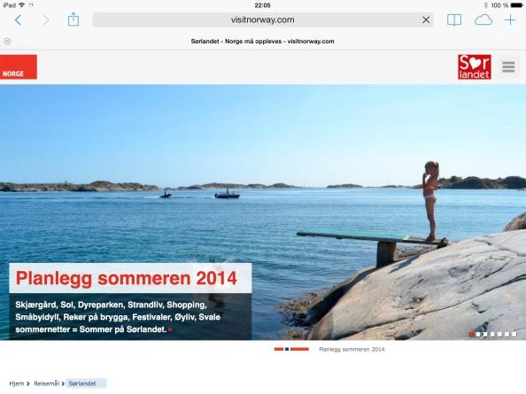 Visit Sørlandet + Visit Norway =sant