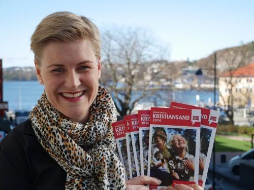 Elisabeth Høibo, Visit Sørlandet med Kristiansandsguiden 2014 Foto: Hildegunn S. Teinum, Visit Sørlandet