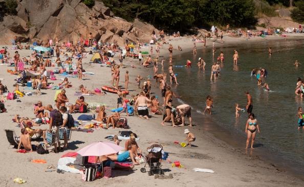 Mange som hadde fine feriedager på Sørlandet i sommer