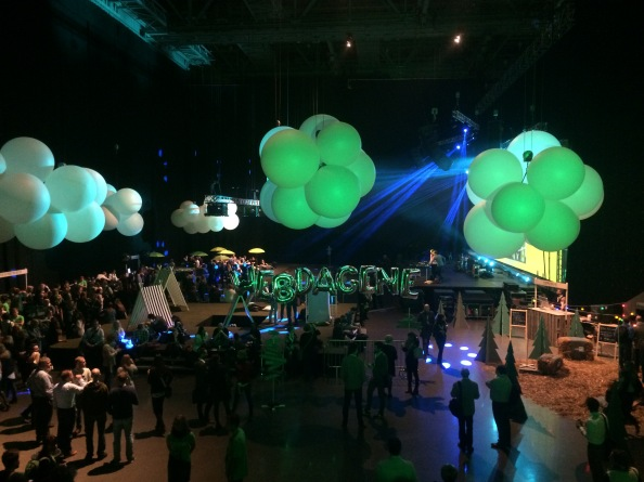 Oversikt over minglearealet under Webdagene i Oslo Spektrum 2014