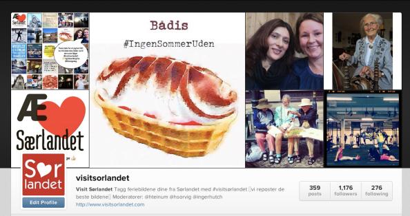 Visit Sørlandet profil på Instagram