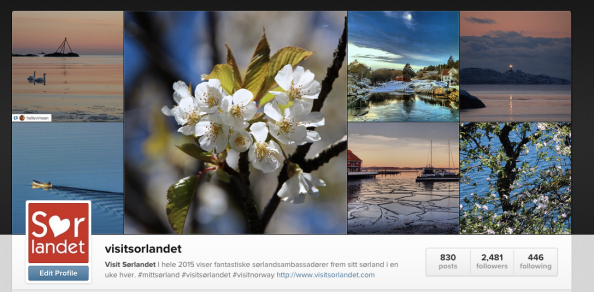 Visit Sørlandet Instagram collage